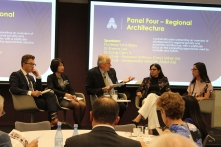 Regional Architecture Panel - Prof Nick Bisley, La Trobe University, Dr Dang Cam Tu, Diplomatic Academy of Vietnam, Prof Anthony Milner, Aus-CSCAP, Amb Astanah Abdul Aziz, Ministry of Foreign Affairs Malaysia, Dr Sheryn Lee, Macquarie University